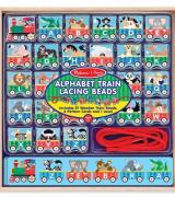 Alphabet Train Lacing Beads