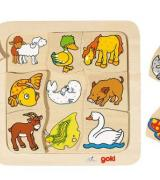 Animals and Their Babies Puzzle