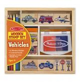 Wooden Stamp Set - Vehicles