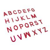 Capital Movable Alphabet - Print Wooden Letters – Red