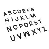 Capital Movable Alphabet - Print Wooden Letters – Black