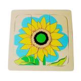 Growth and Layer Puzzle –Sunflower-E&O Montessori-www.momtessorimaterials.com