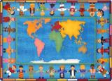Hands Around the World Carpet-Rectangle
