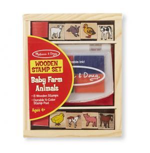 Wooden Stamp Set - Baby Farm Animals