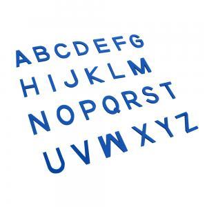 Capital Movable Alphabet - Print Wooden Letters – Blue