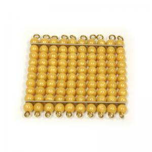 One Golden Bead Square of 100