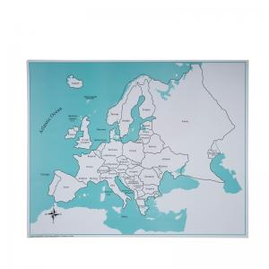 Europe Control Map - Labeled