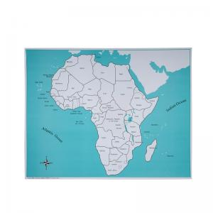 Africa Control Map - Labeled
