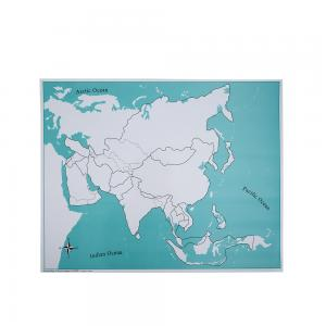Asia Control Map - Unlabeled