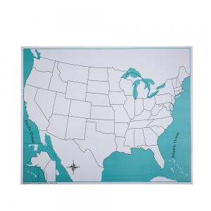 USA Control Map - Unlabeled