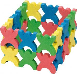 Stacking People, 48 wooden pieces
