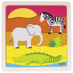 In Africa, Wooden Puzzle