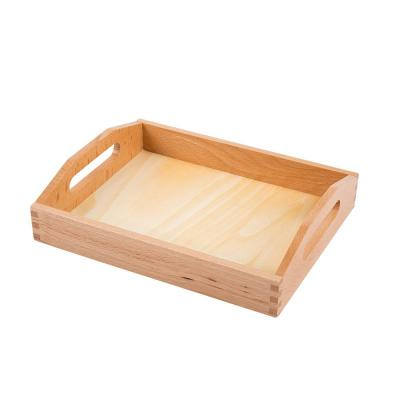 Small Wooden Tray with Cutout Handles