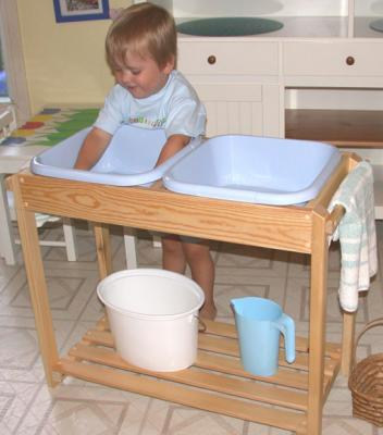 Wooden Cloth Washing Stand - Primary
