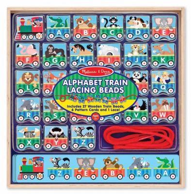 Alphabet Train Lacing Beads