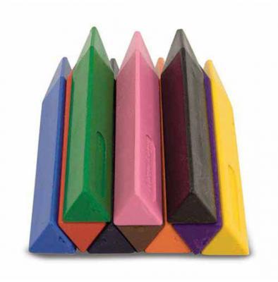 Jumbo Triangular Crayons (Set of 10)