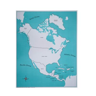 North America Control Map - Labeled