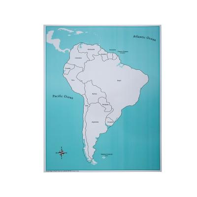 South America Control Map - Labeled