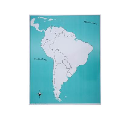 South America Control Map - Unlabeled