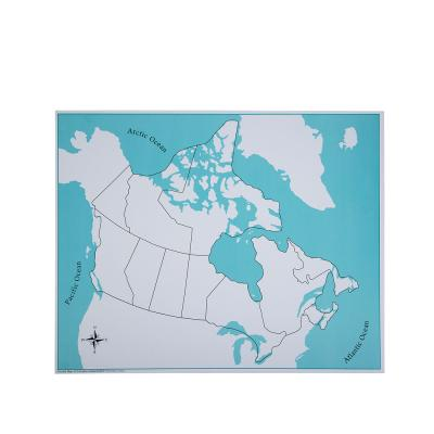 Canada Control Map - Unlabeled