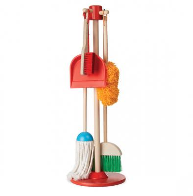 Dust, Sweep & Mop Set with Wooden Stand