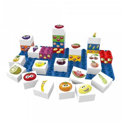 Learning Fruits & Vegetables Building Blocks Set