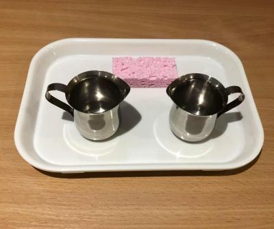 Pouring Set with Two Stainless Steel Creamers