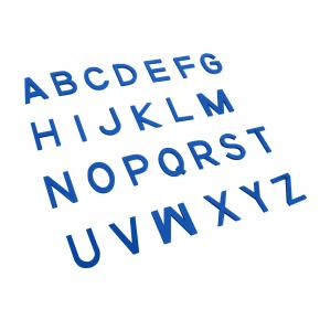 Capital Movable Alphabet - Print Wooden Letters – Blue