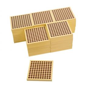 45 Wooden Squares of 100