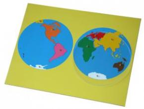 Montessori World Puzzle Map