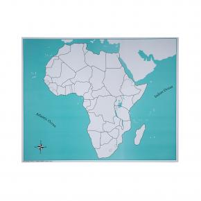 Africa Control Map - Unlabeled