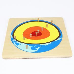 Layers of the Earth Wooden Puzzle