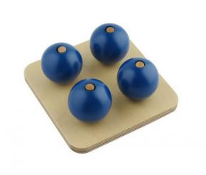 Four Balls on Small Pegs