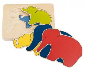 Elephant Puzzle - 5 layers
